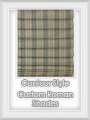 custom fabric roman shades rollup blinds. Black Bedroom Furniture Sets. Home Design Ideas