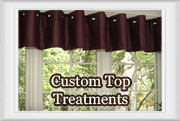 Custom Window Top Treatments