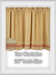 "24""L inch Length Tier Curtains"