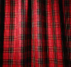 plaid curtains