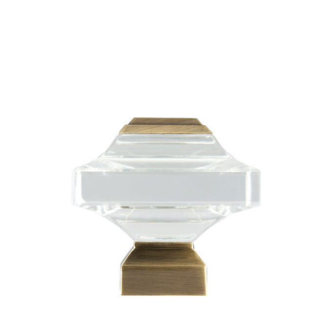 Square Beveled Glass 1 1 8 Quot Dia Custom Metal Curtain Rod