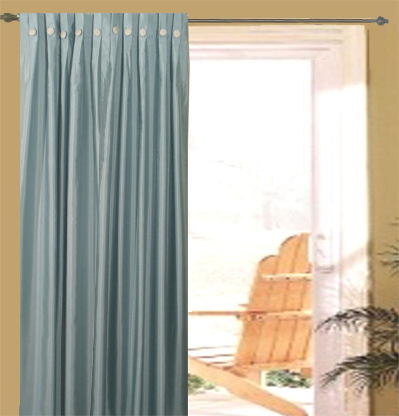 Pleated Curtains For Curtain Box : Artisan Box Pleated Double Width Curtain Panels