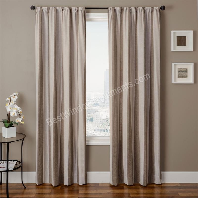azure stripe curtain panel available in 6 color choices