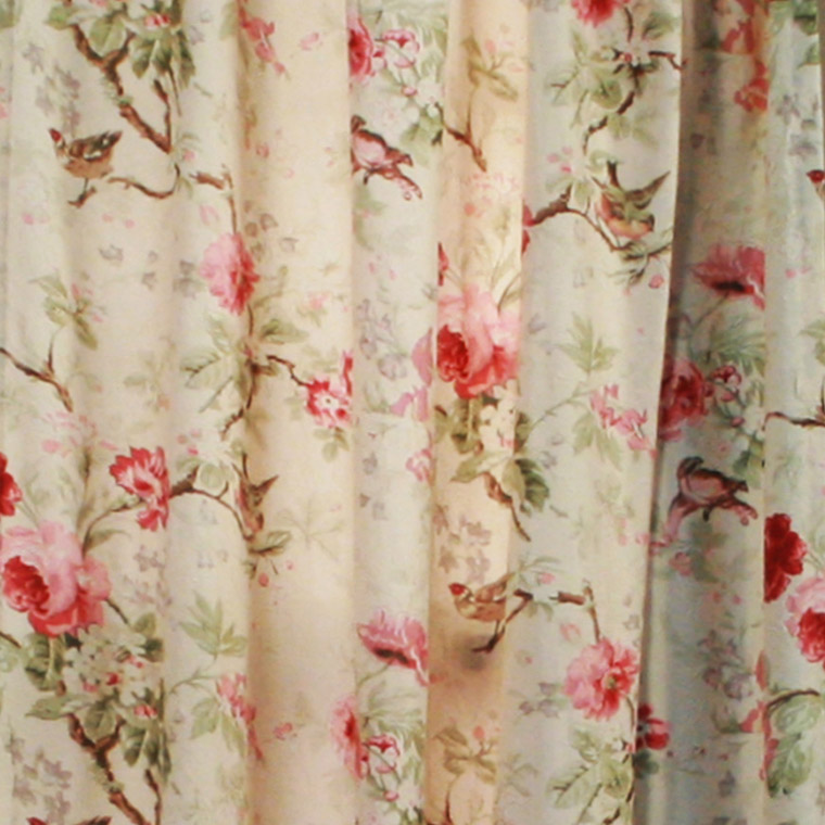 Lilac, Balmoral Floral Curtain Red