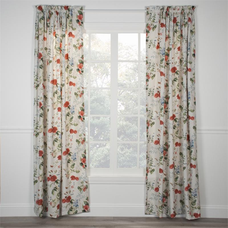 Botanical Floral Curtain Panel