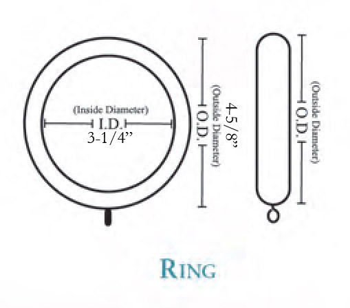 Wood Curtain Ring Bradford Select Limited 4 Pack
