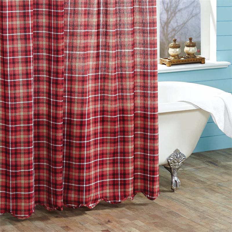 Braxton Plaid Shower Curtain Www Bestwindowtreatments Com