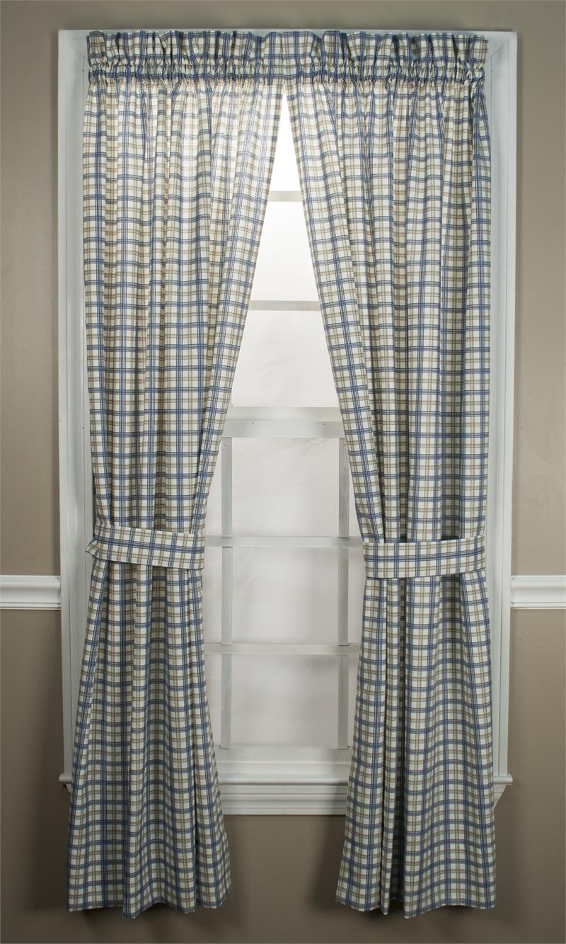 Custom Bristol Plaid Rod Pocket Curtain Panel Lined