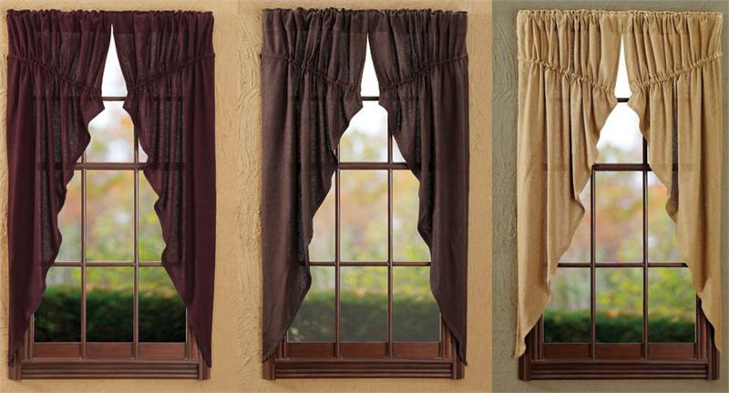 Soft Burlap Prairie Curtains