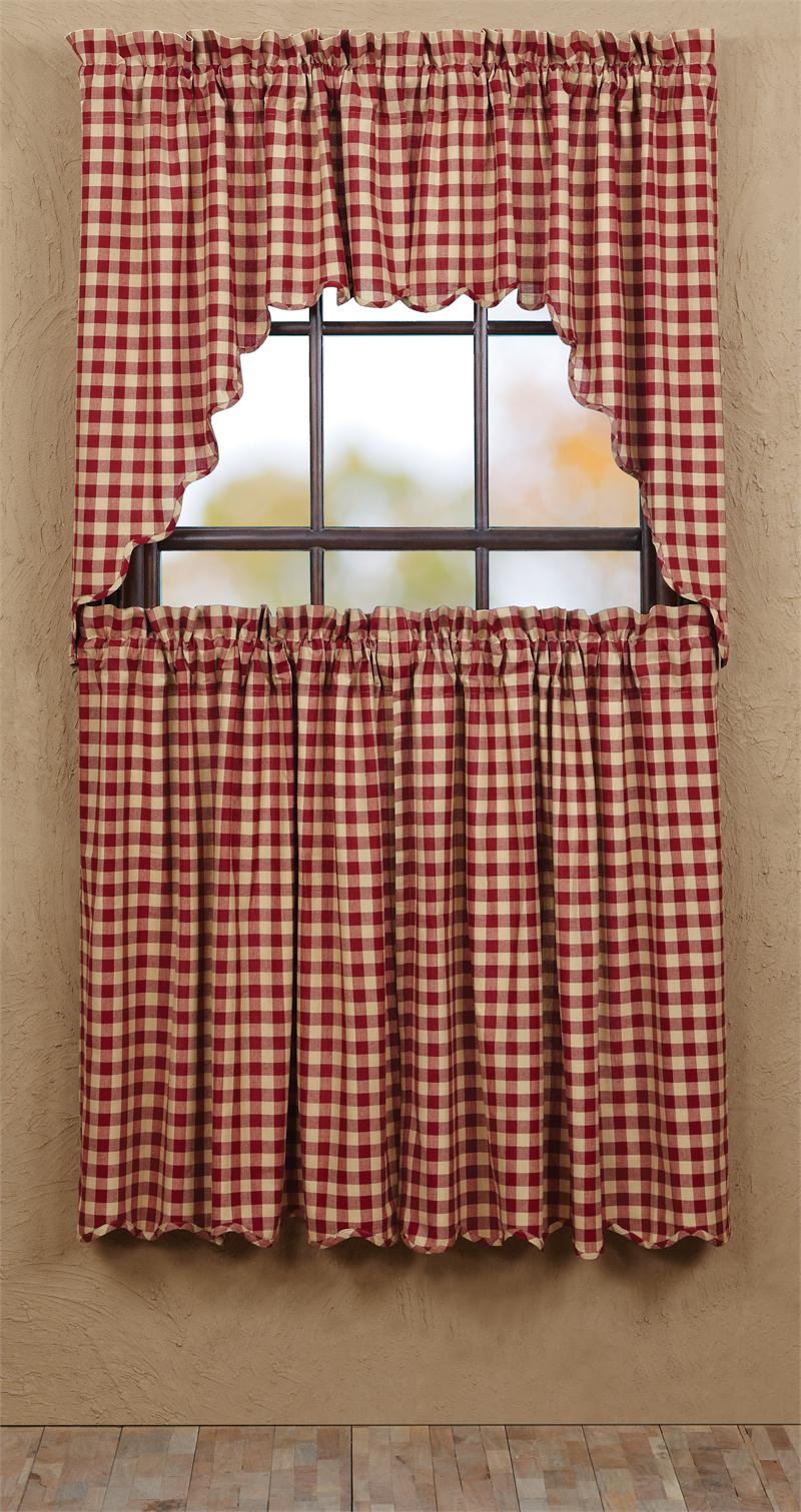 Cambrie Lane Check Tier Curtains