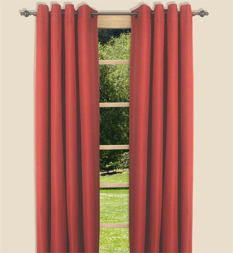Canvas Blackout Curtain Panel In 5 Colors