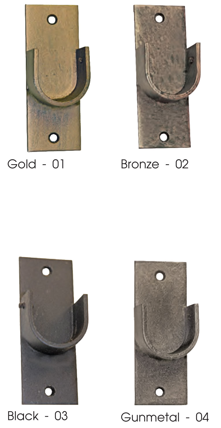 Artistica Outdoor Side Mount Iron Curtain Rod In 4