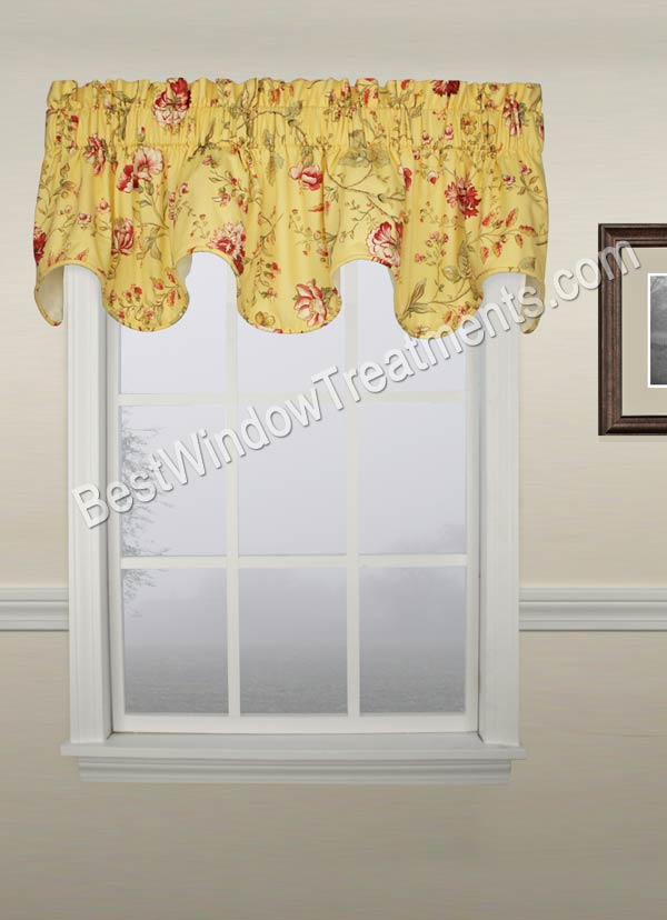 Coventry Floral Scallop Valance