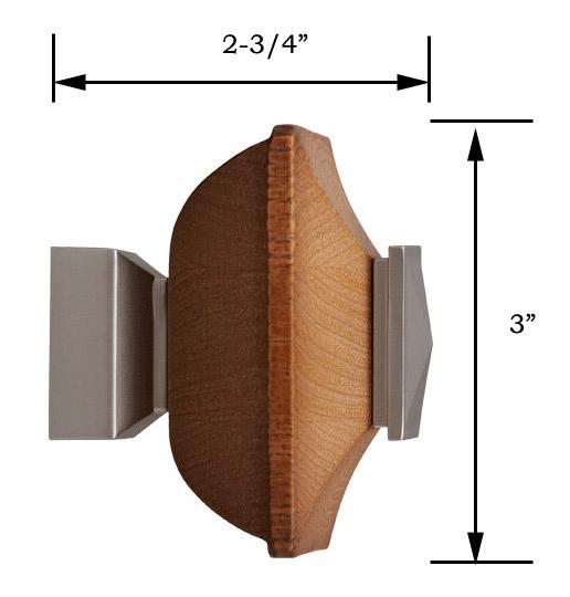 Craftsman Wood Square 1 1 8 Quot Dia Custom Metal Curtain Rod