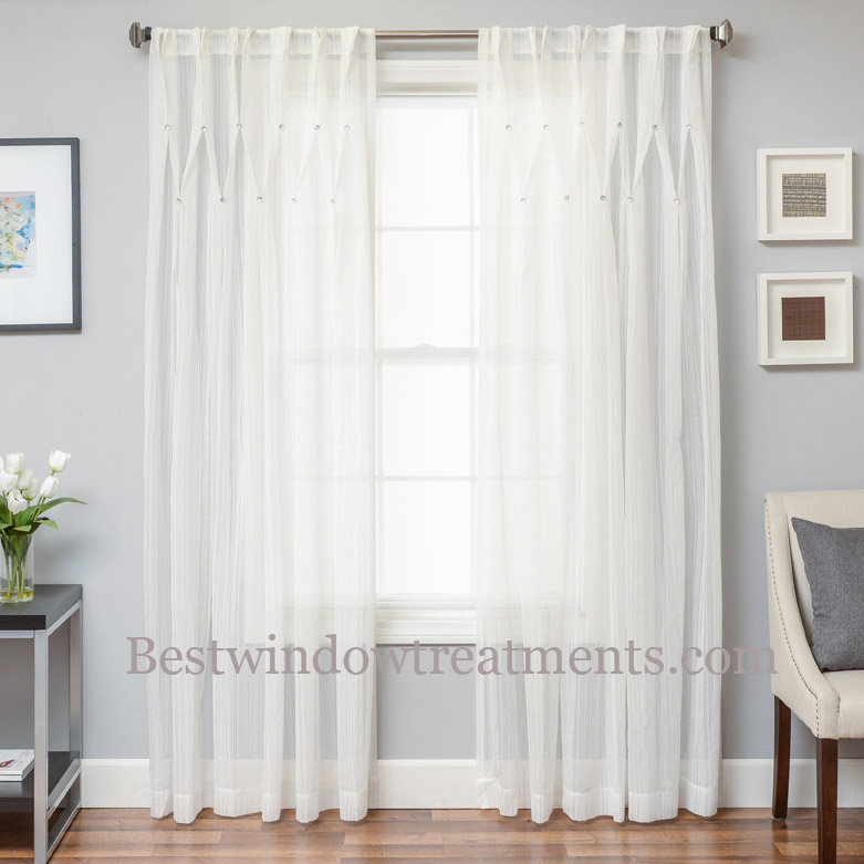 Pleated Sheer Curtains Window Treatments Unique Bay Window Treat