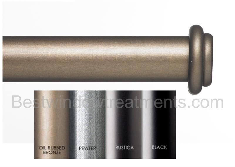 Custom 1 5 estate iron curtain rod in 4 finishes extra long available end cap - Custom iron curtain rods ...