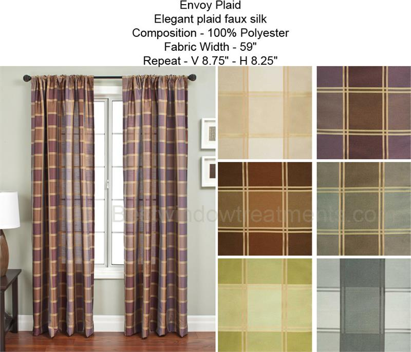 Envoy Plaid Curtain Drapery Panels