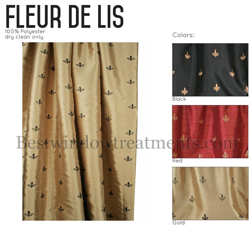 Custom fleur de lis shower curtain www bestwindowtreatments com