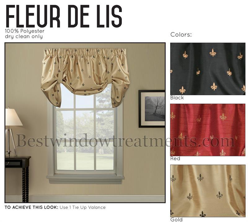 Fleur De Lis Tie Up Valance Window Treatments Www