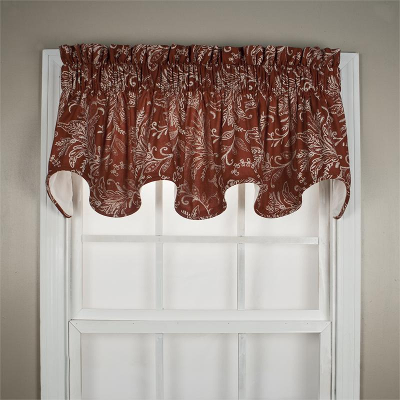 Floating Leaves Scallop Valance