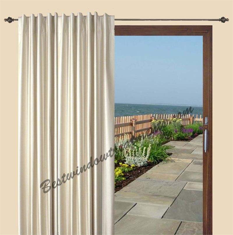 Fontaine insulated patio curtain in 4 colors for Best insulated glass windows
