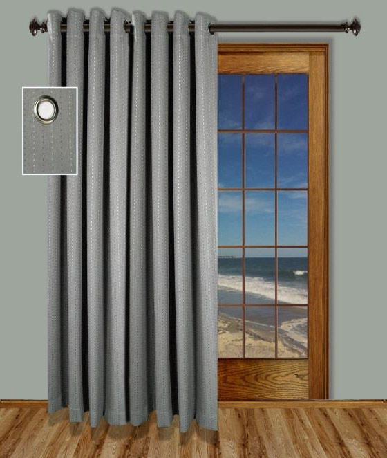 Grand pointe curtain panel with back tabs - Sliding back door curtains ...