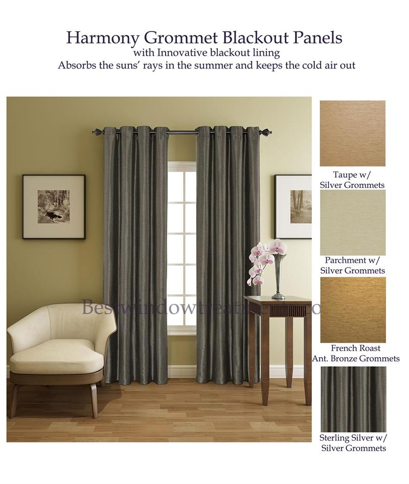 Harmony Blackout Curtain Pairs In 4 Colors
