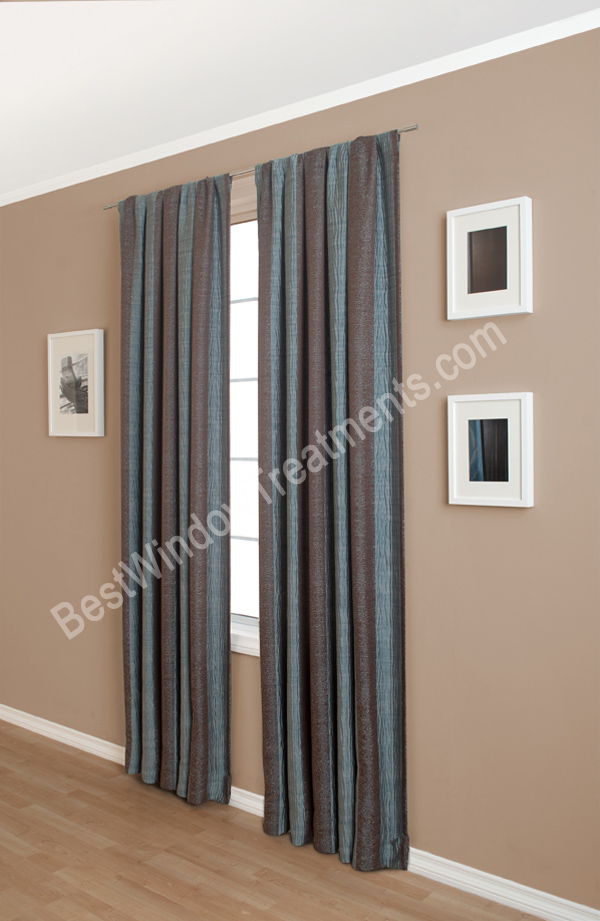 Loraina Stripe Curtain Panel available in 6 colors