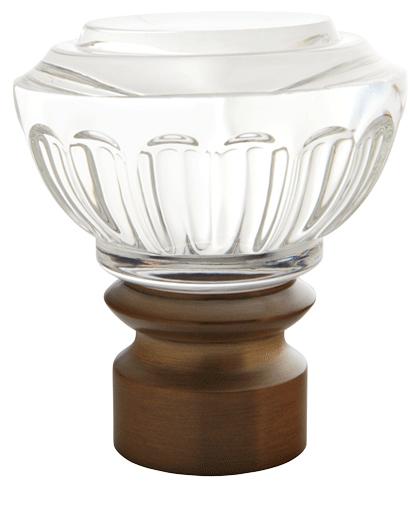 Montclaire Glass Knob 1 3 8 Quot Dia Custom Metal Curtain Rod