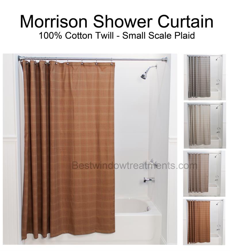 Morrison Plaid Shower Curtain Bestwindowtreatments Com