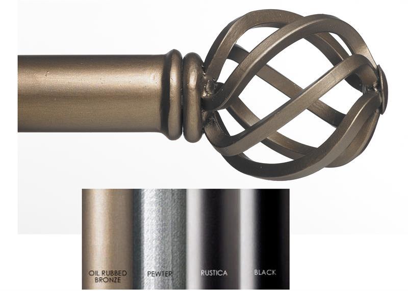 Custom 1 5 estate iron curtain rod in 4 finishes pajaro - Custom iron curtain rods ...