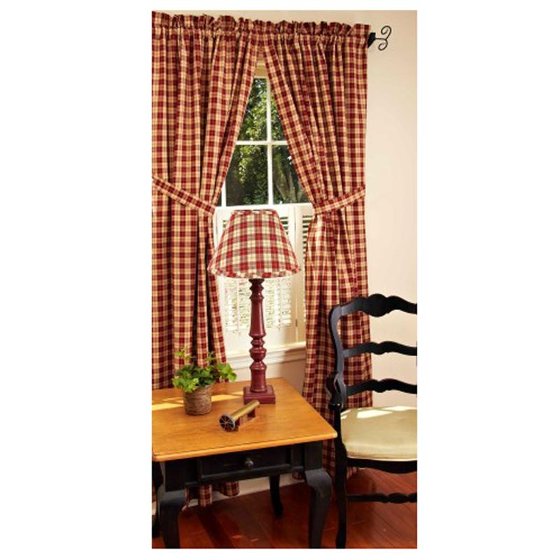 parkersburg plaid barn red curtains