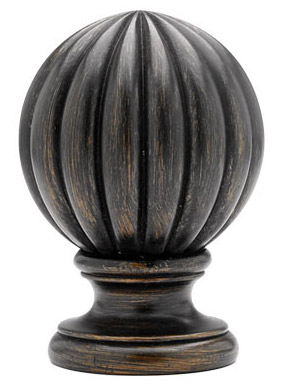 Reeded Ball Select Custom Wood Rod Set 2 1 4 Quot Diameter
