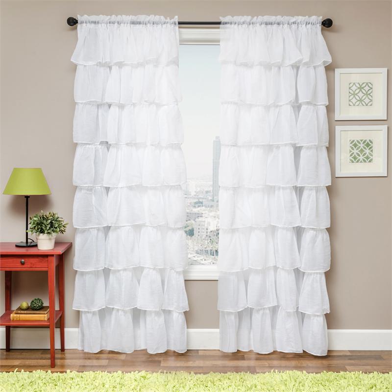 Sasha Layered Sheer Curtain Drapery Panels
