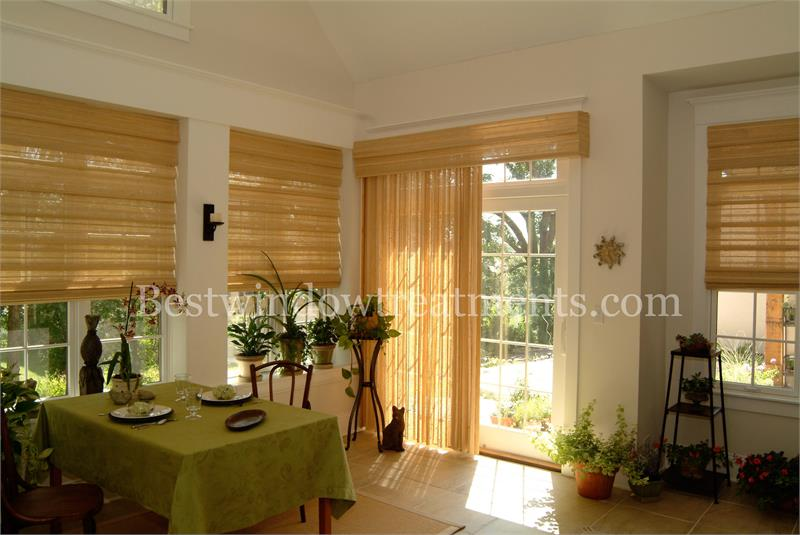 averte custom woven wood patio one way draw panel system. Black Bedroom Furniture Sets. Home Design Ideas