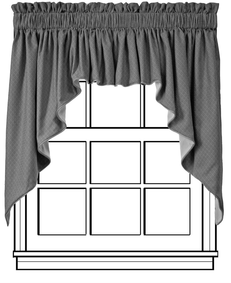 Custom Tailored Swag Curtains - Group A