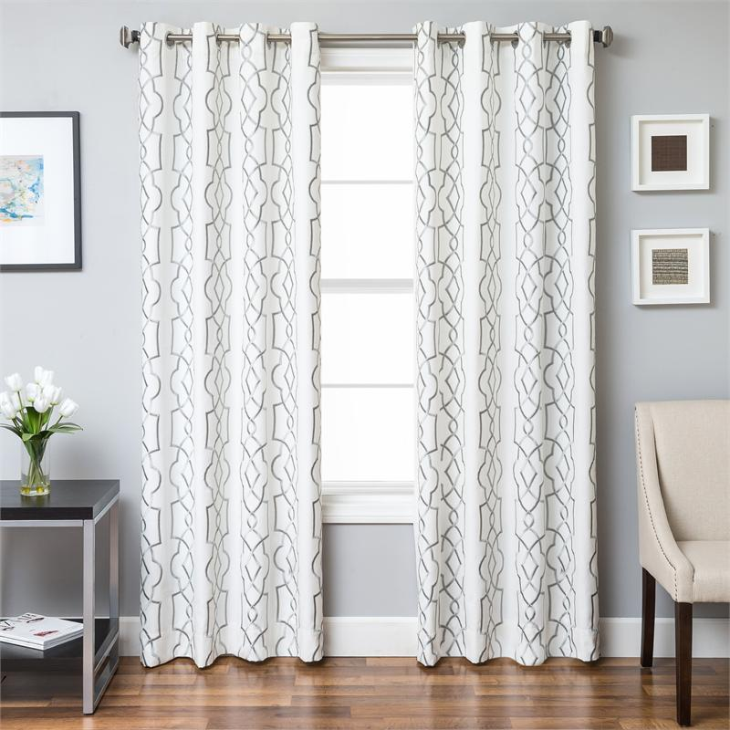 Trask heavy linen style curtains new for Linen shades window treatments