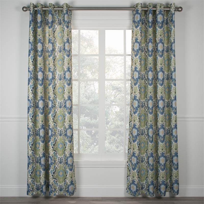 Tuscany Grommet Curtain Pairs Available In 3 Colors