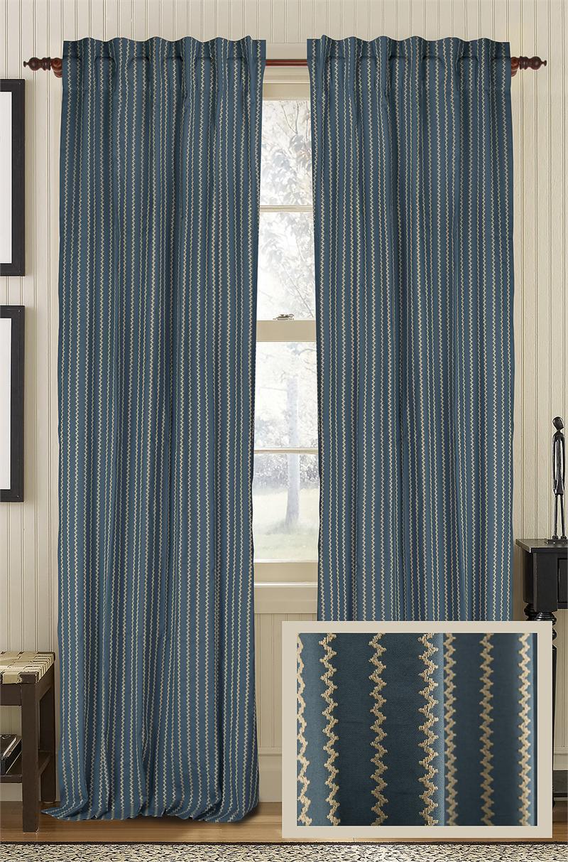 Vibrant Cotton Amp Linen Blend Curtain Panel