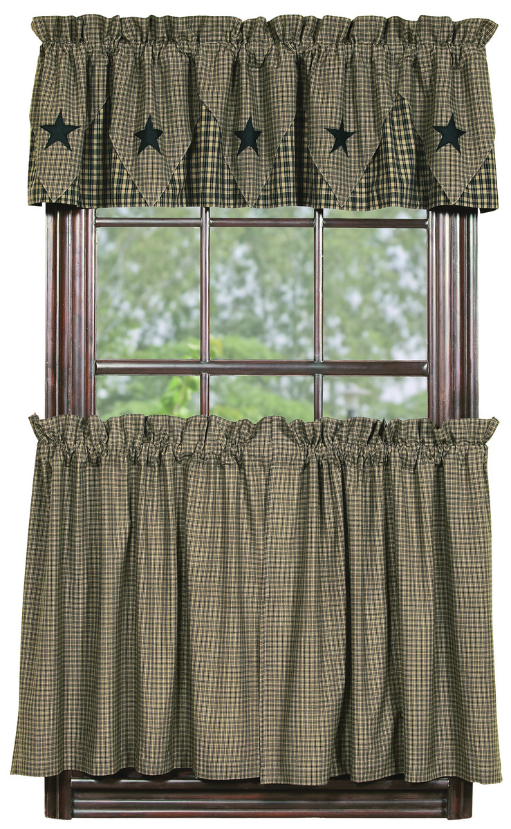 Vintage Black Check Tier Curtains Bestwindowtreatments Com