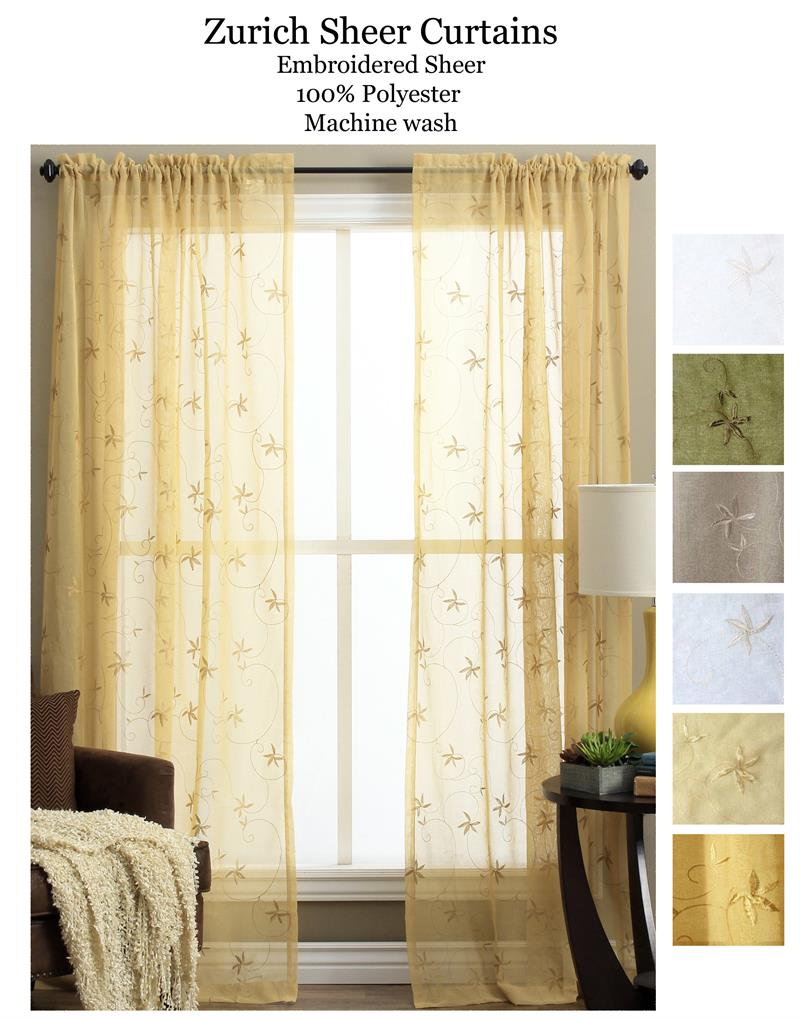 Zurich sheer curtain panel for Home decor zurich
