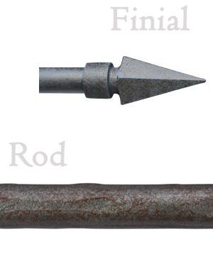 Arrow 3 4 hammered iron curtain rod extra long available - Custom iron curtain rods ...