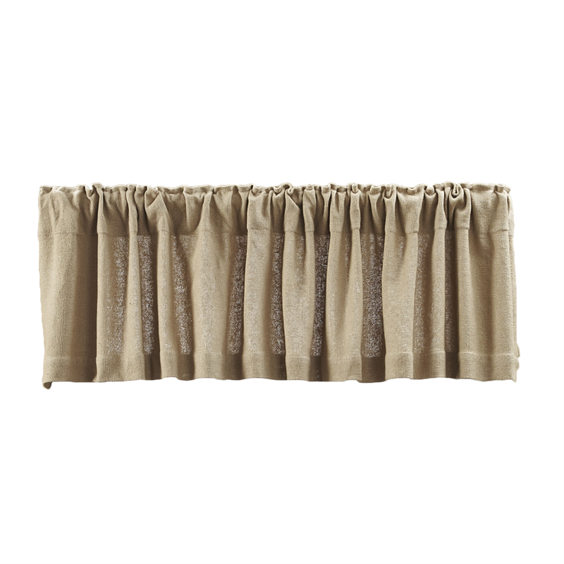 Burlap natural valance www bestwindowtreatments com