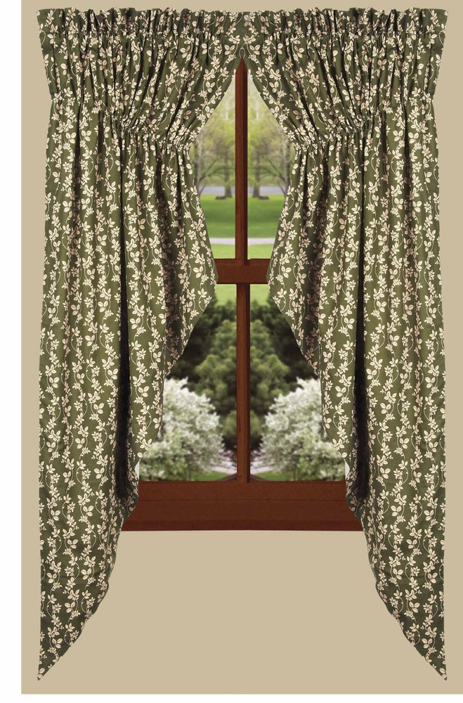 Charlotte Floral Gathered Swag Curtains
