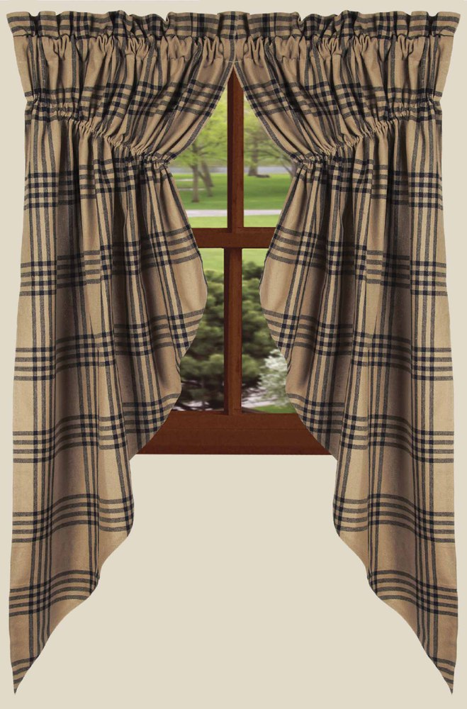 Chesterfield Plaid Gathered Swag Window Topper