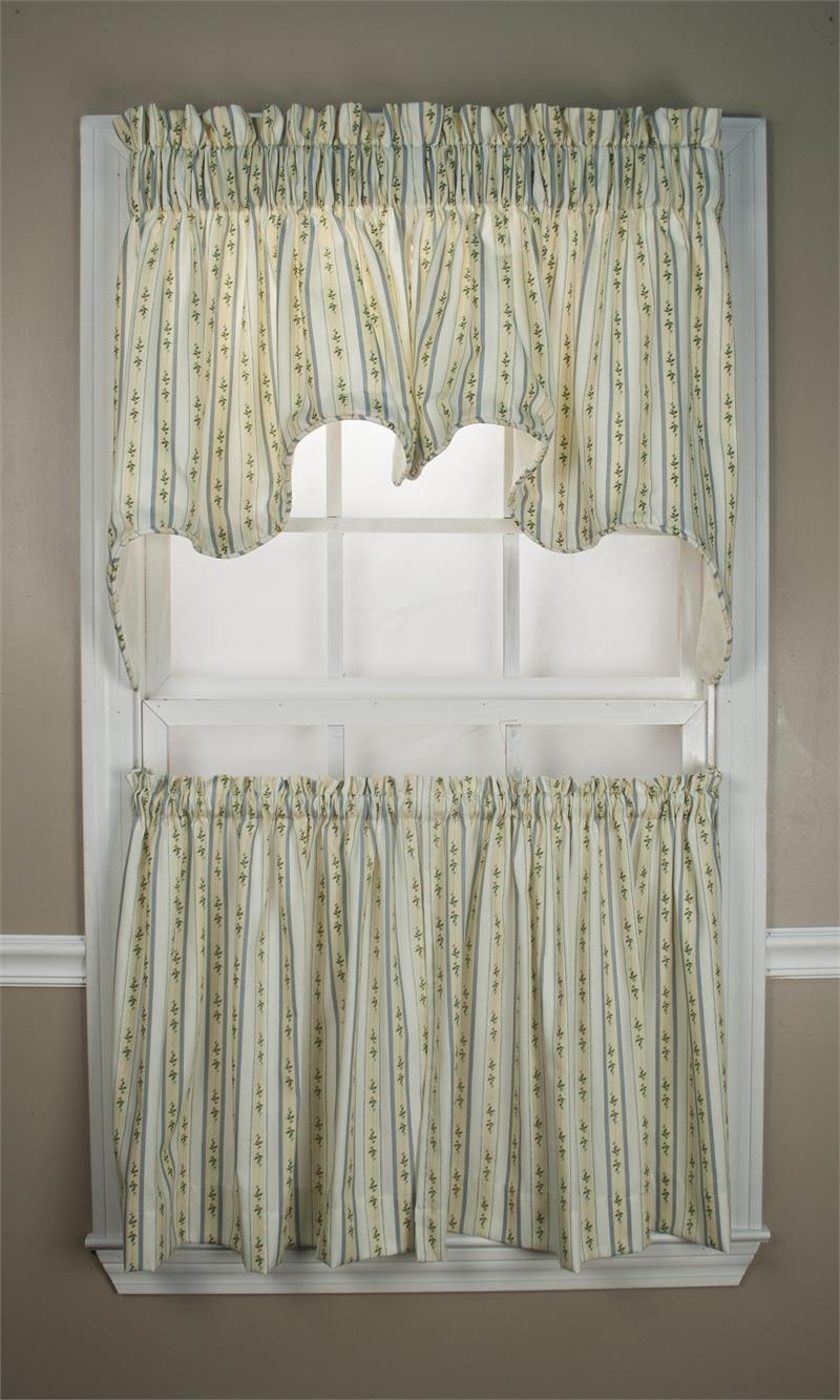 Cynthia Stripe Tier Curtains
