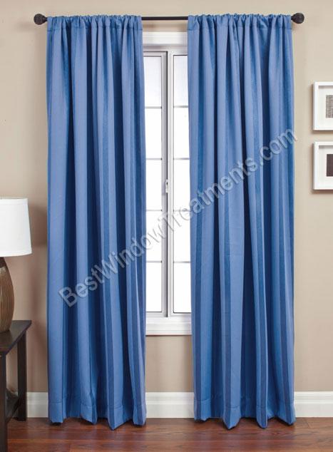 Energex Stripe Blackout Curtain Drapery Panels