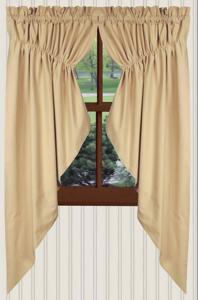 Farm House Solid Prairie Curtains In Nutmeg