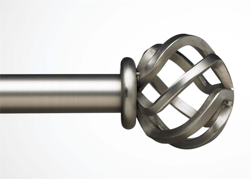 Round Flame Custom 1 Quot Iron Curtain Rod In 4 Finishes