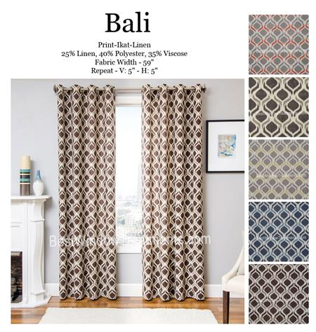 Exceptional Bali Ikat Curtain : Optional Blackout, Lining, Grommets